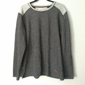 Tommy Bahama Heather Gray Crewneck Fleece Sweater